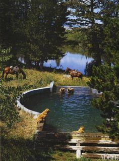 Bruce Weber and Nan Bush's Little Bear Ranch in Montana