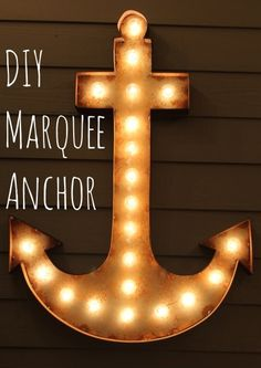 DIY Marquee anchor-