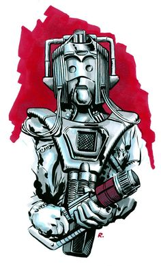 Back in September I was contacted by devoted Doctor Who fan David Raybould who was seeking my permission to use a Cyberman illustration for a tattoo. As he said in his email 'I've been a Whovian for. Doctor Who Fan Art, Bbc Doctor Who, Doctor Who Tardis, Film Doctors, Classic Doctor Who, Nerd Art, Bad Wolf, Dr Who, Best Tv Shows
