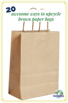 20 ways to reuse brown paper shopping bags in your yard and home, or turn them into beautiful hand crafted items.  #greenliving #upcycle #reducereuserecycle #kraftpaper #brownpaperbags #frugalliving Paper Grocery Bags, Paper Gift Bags, Homemade Gift Bags, Reuse, Upcycle, Paper Carrier Bags, Xeriscaping, Brown Paper Packages, Paper Fans