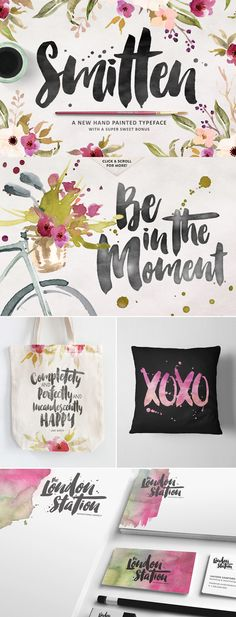Love this convincing brush lettering font! SO realistic and lovely.