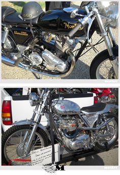 2 Great British Bikes  Norton 750 Commando  Triumph 500