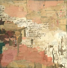 """Louise Forbush   Stremmel Gallery. At the Gate, collage on panel, 12""""x12"""", $1,000."""