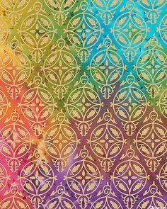 Montego Bay - Medallion Gate Printed Hand-Dye - Jewel/Gold