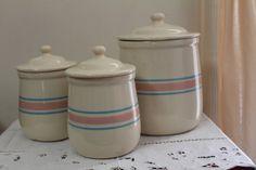 Vintage McCoy Kitchen Pottery Canister Set by TreasuresFromUs, $55.00