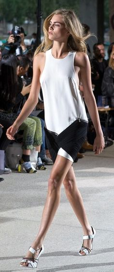 Runway - Cara Delevingne for Anthony Vaccarello Spring/Summer 2013
