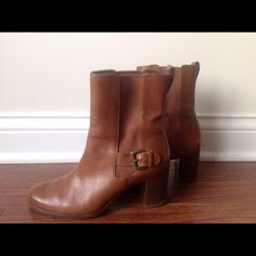 BOGOHO Cole Haan Callan Short Boot Golden safari color  Worn only a couple of times (see photos) Perfect with jeans or for work Perfect for fall or winter! Cole Haan Shoes Heeled Boots