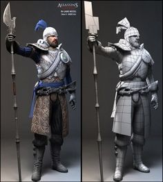 Assassin's Creed 2 by nicolas collings Zbrush Character, 3d Model Character, Character Sketches, Character Modeling, Character Creation, Character Art, Character Design, 3d Modeling, Modeling Portfolio