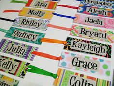 This listing is for ten (10) personalized bookmarks. Need more than ten? Need specific colors? Simply message me and well customize a listing just