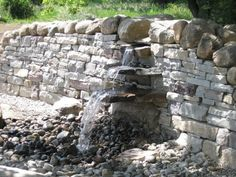 Dry Stone Wall Water Feature