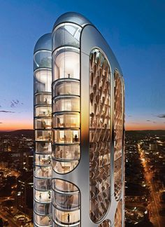 architecture - Futuristic 197 Building In The Heart Of Parramatta, Australia Architecture Antique, Architecture Design, Concept Architecture, Futuristic Architecture, Beautiful Architecture, Contemporary Architecture, Australian Architecture, Chinese Architecture, Architecture Office