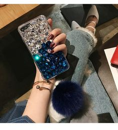 Galaxy Note 9 Case,Samsung Note 9 Fox Tail Ball Case,Luxury Sparkle Bling Crystal Clear TPU Rhinestone Bling Glitter Pink Color Diamond Phone Case Cover For Samsung Galaxy Note 9 Fur Ball Case Fluffy Phone Cases, Girly Phone Cases, Diy Phone Case, Phone Covers, Iphone Cases, Iphone 8, Ball Decorations, Mobile Covers, Gradient Color