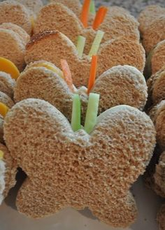 butterfly sandwiches...but I think they also look like bows for Emmas party Visit my site https://twitter.com/promocouponscod #weightloss #health #cookbook