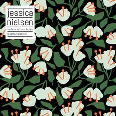 news - Jessica Nielsen - surface pattern design Motifs Textiles, Textile Patterns, Textile Design, Flower Pattern Design, Pattern Art, Flower Patterns, Green Pattern, Surface Design, Pattern Texture