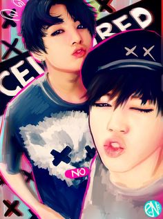 Kookie and Jimin. This person did a nice job with the drawing ! :)
