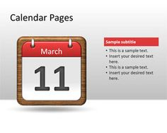 Calendar Pages PowerPoint Template #Free