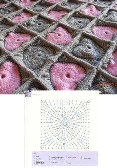 crochet hearts afghan - I really like the color and the texture of this one!