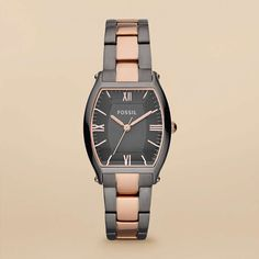 FOSSIL® Watch Styles Rose Watches:Women Wallace Stainless Steel Watch – Smoke and Rose ES3059