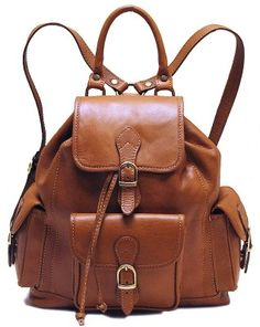 38a44ad369f2 FLOTO Toscana Leather Backpack Brown