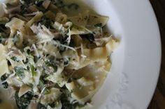 Spinach Mushroom Rag Soup