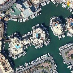 vista aérea puerto deportivo benalmádena