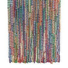 Rainbow Mardi Gras Beads - OrientalTrading.com