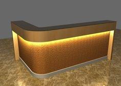 Pure White Color Modern Reception Desk/ L Shape Reception Desk Be ...