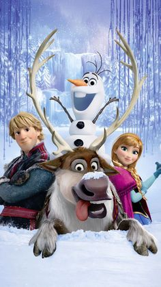 Anna, Kristoff, Olaf and Sven Frozen Animation Movie Desktop Wallpaper Frozen Disney, Walt Disney, Disney Magic, Disney Cinema, Film Frozen, Frozen 2013, Disney Frozen Birthday, Frozen Theme, Olaf Frozen
