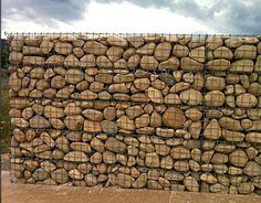 gabion fence with large river rocks http://www.gabion1.co.uk