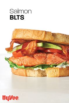 The best BLT ever includes a flakey piece of salmon. #Sandwich #Salmon