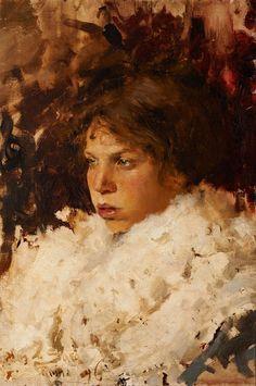 Carlos Federico Sáez, Joven italiana (c.1896), Óleo sobre tela, 61 x 41 cm