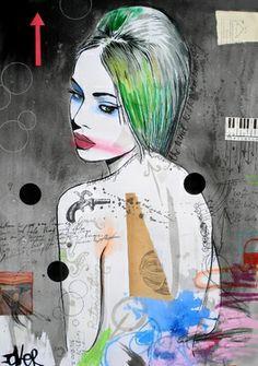 "Saatchi Online Artist Loui Jover; Mixed Media, ""retributions muse"" #art"