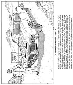 1969 Pontiac Firebird Trans Am - Classic Cars Coloring Book, Dover Publications