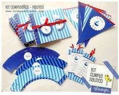 Cumpleaños infantiles / Temática náutica / lorenzadiseño.com