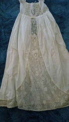 Very early Victorian newborn-4 mos gown/Christening, fine embroidery, empire top