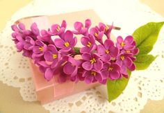 Flower headband lilac. Flower headpiece. Hair accessories. Polimer clay flower(cold porcelain). Floral hair accessories.Women hairstyle.