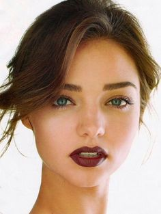 Miranda Kerr  - eyebrows + lip color