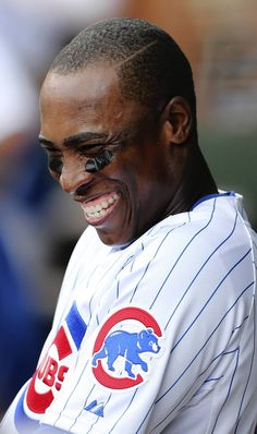 Alfonso Soriano, Chicago Cubs, he may piss me off some days.. but he's a got a smile you can't help but love. <3