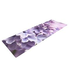 Kess InHouse Sylvia Cook Lilac Yoga Exercise Mat Purple Flowers 72 x 24Inch * Learn more by visiting the image link.