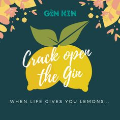 When life gives you lemons. Crack open the gin! Gin Lovers, Life
