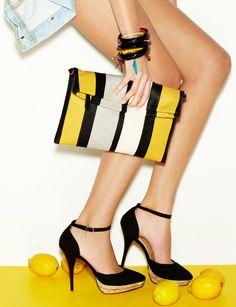 clutch and heels