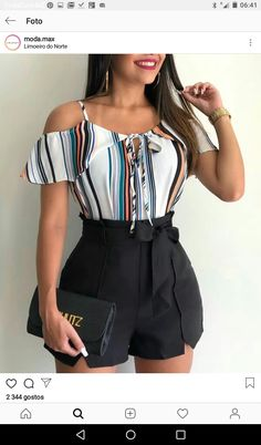 Modelos de.short Teen Fashion Outfits, Girly Outfits, Short Outfits, Short Dresses, Fashion Dresses, Cute Summer Outfits, Cute Casual Outfits, New Look Fashion, Night Club Outfits