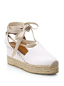 Ralph Lauren Collection - Uma Tie-Up Canvas Espadrille Sandals