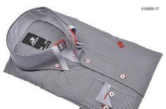 Overhemd Culture grijs/streep