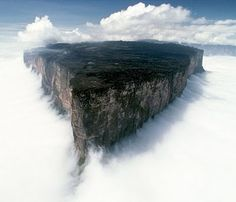 Mount Roraima is the highest of the Pakaraima chain of tepui plateau in South America.First described by the English explorer Sir Walter Raleigh in 1596, its 31 km2 summit area is defended by 400-metre-tall cliffs on all sides. The mountain includes the triple border point of Venezuela,Brazil andGuyana.