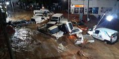 09/23/2015 - Unusual scenes in resort town as flash floods wreak havoc in Bodrum, Turkey