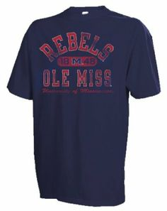 NCAA Ole Miss Rebels Mississippi?Men's Crew Neck Tee, Navy, XX-Large Russell Athletic. $16.62