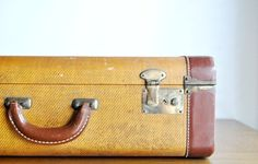 antique luggage...great to store things...and also I use as decoration in apt..