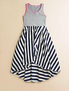 Flowers by Zoe Girl's Stripe Dress. Summer Fun.