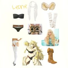 Akame ga Kill: Night Raid Leone by arbitraryskittle on Polyvore featuring Uniqlo, Prism, Diba, Jones New York, Renee's NYC, Athleta, BKE, Clair Beauty and Chaps